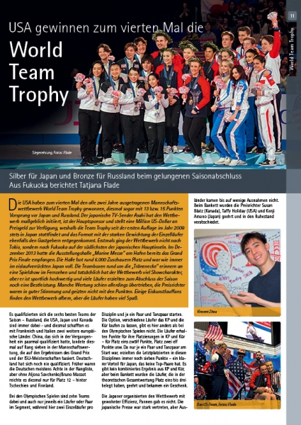 Pirouette Magazine for Figureskating May + Juni 2019 - World Team Trophy